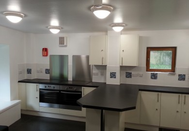 Kitchens at Soton hall of Residents